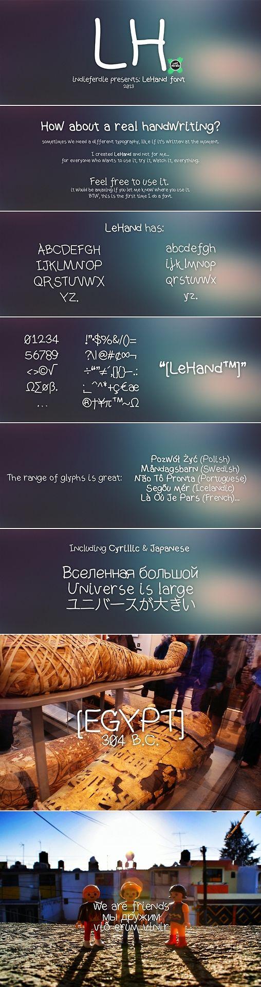 LeHand - Free Font