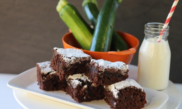 These zucchini brownies are chocolatey, moist and devoid of any zucchini flavour. Sneak extra veggies into the kids' diet with this delicious treat.
