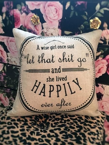Two sided pillow with original design, coordinated sayings. Babecave, teen pillows, college dorm, sorority pillows, girl's room.