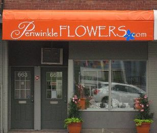 Storefront | Toronto flower shop Periwinkle Flowers