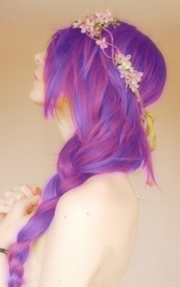 Purple haired girl <3