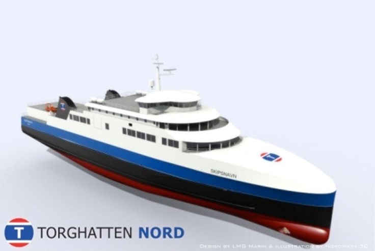 The new LNG-fuelled Lofotenferry, one of four to be commissioned in 2012.