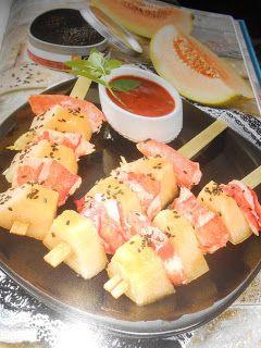 Le Chef Pierre D'Iberville: Brochettes de homard et de cantaloup