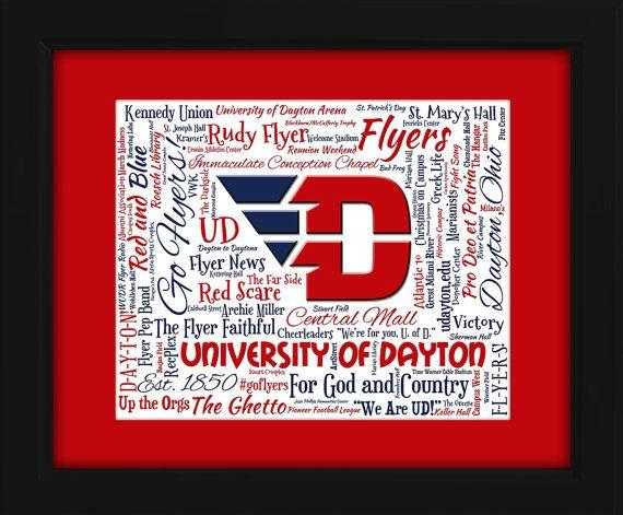 University of Dayton 16x20 Art Piece  by AODesignsOnline on Etsy