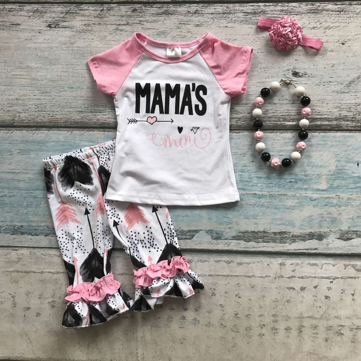 >> Click to Buy << girls summer cotton capri set cute toddler girl clothes girls boutique outfits MAMA'S MINI clothes with headband and necklace #Affiliate