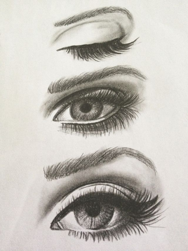 pencil eye drawing.