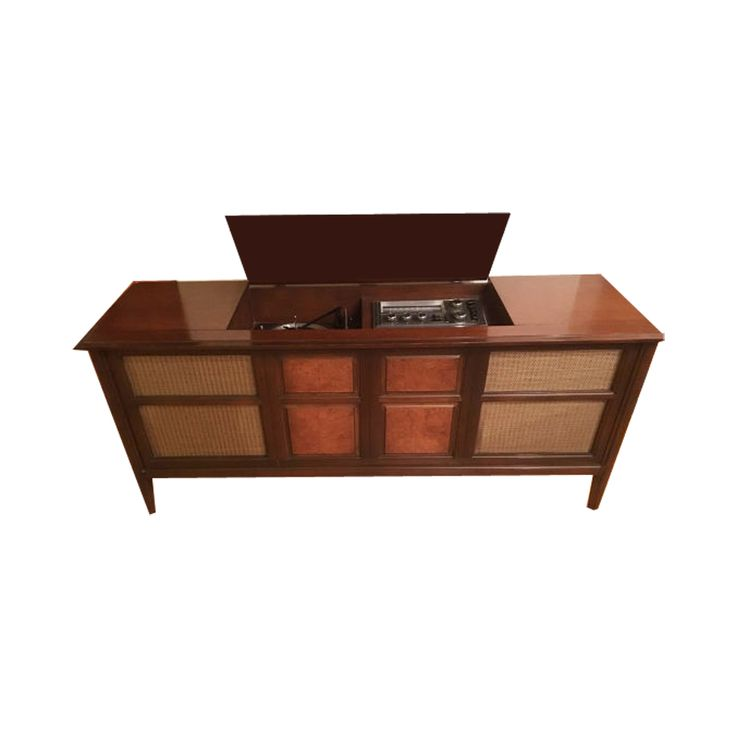 Madmen  Style Mid Century Modern Stereo Console Cabinet With New Turntable  Http:/