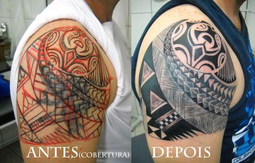 Maori Tattoo Cover Up: Cover Up Maori Polynesian Cover Up Cobertura Maori
