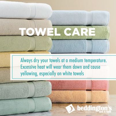 Towel care #DIY #Cleaning #Bathroom #Decor http://www.beddingtons.com