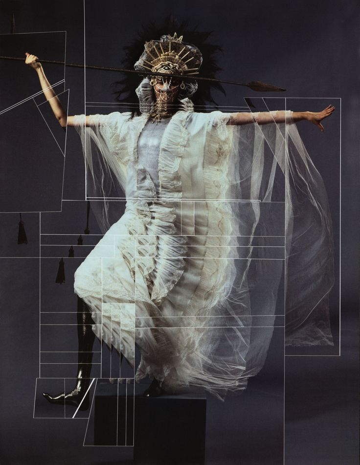 Björk by Jean-Paul Goude #2007 dressed by Jean-Paul Gaultier