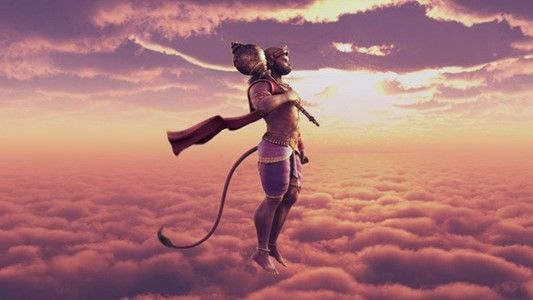 Lord hanuman Flying in sky Wallpapers available at Hdwallpapersz.net