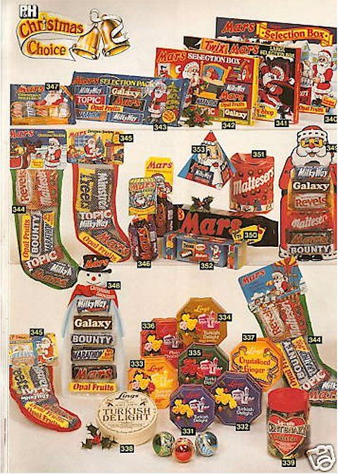 xmas selection boxes! If you hadn't eaten a selection box for breakfast on christmas morning there was something wrong with ya..