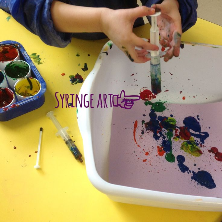 Preschool syringe doctor art.  Syringe art great for units on doctors, germs, or veterinarians.