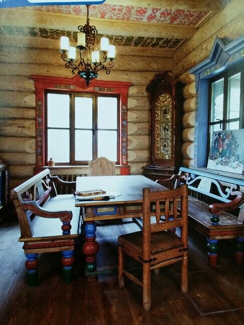Charming #izba #russianstyle #homestyle #wood #art #decor