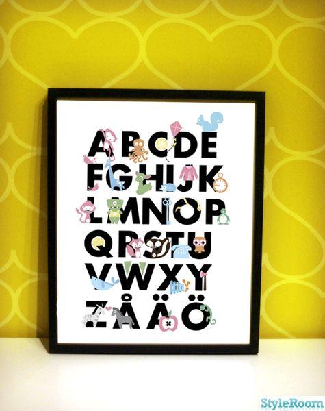 alfabettavla,alfabet,tavla,barnrum