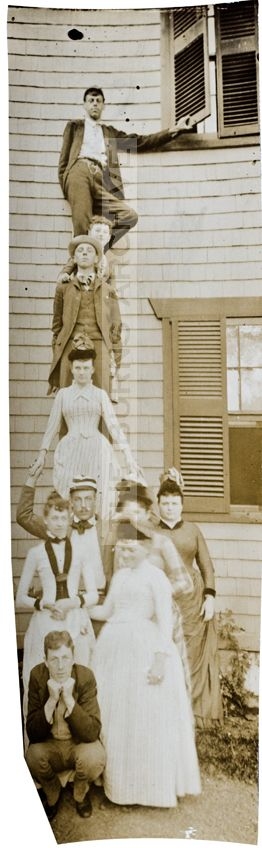 "Family Photo!!! The strange and forgotten Edwardian sport of ""stacking"" for a"