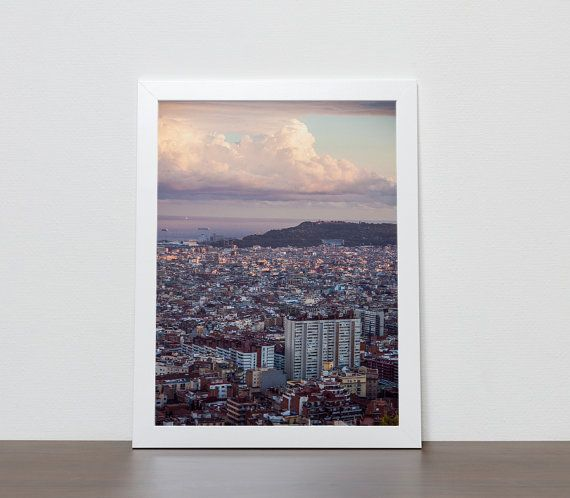 Barcelona sunset photography prints barcelona by BonVoyageStudio