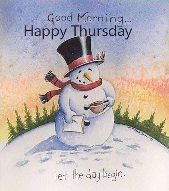 Winter Good Morning .....Happy Thursday :)