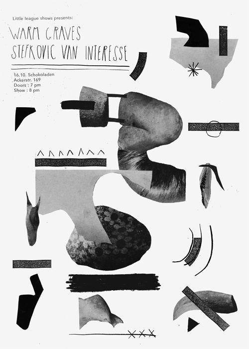Damien Tran Various b/w posters & flyers