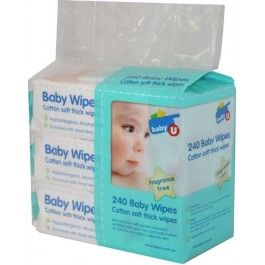 Baby U Wipes - 240 Pack.