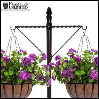 Two-Way Twisted Arm Hanging Basket Bracket