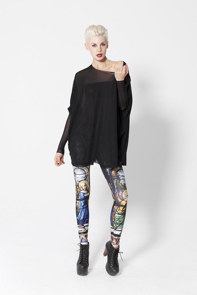 Burned Velvet Wine HW Leggings BM   Fashion, Black milk