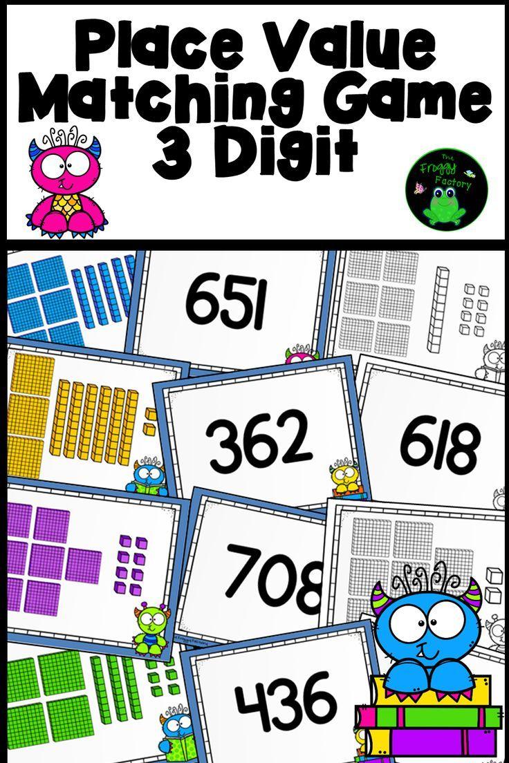 Place Value Game 3 Digit   K-5 Math   Teaching activities, Math ...