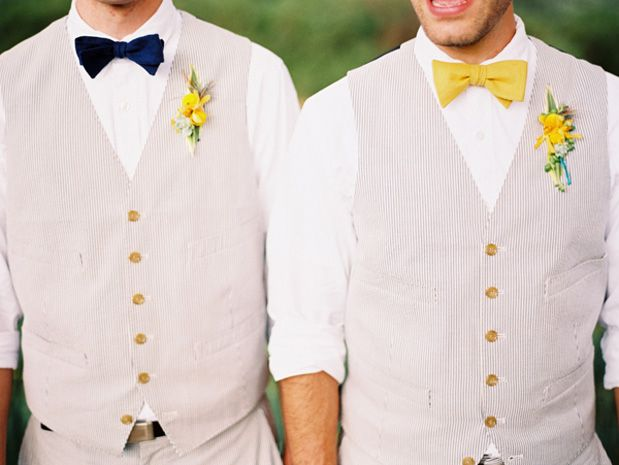 Sunrise Springs Wedding by Clary PfeifferBowties Tux, Bows Ties Grooms, Spring Groomsmen Attire, Married Life, Groomsmen Style, Wedding Groomsmen Vest Bowties, Beach Wedding, Grooms Wedding Attire, Groomsmen Bowties And Vest