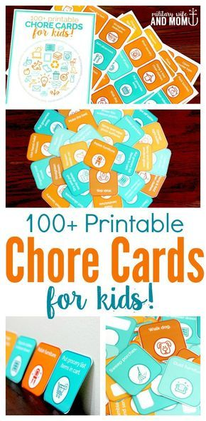 Printable chore cards for kids to teach responsibility, independence and hard work. The perfect alternative to chore charts and behavior reward charts. via /lauren9098/