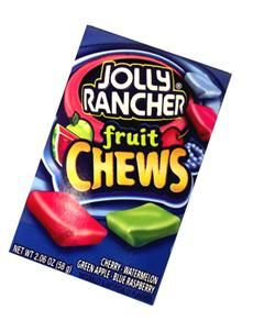 Delicious Jolly Rancher Fruit Chews are packed with green apple, blue raspberry, cherry, watermelon flavours. Give them a try today, you will love them!