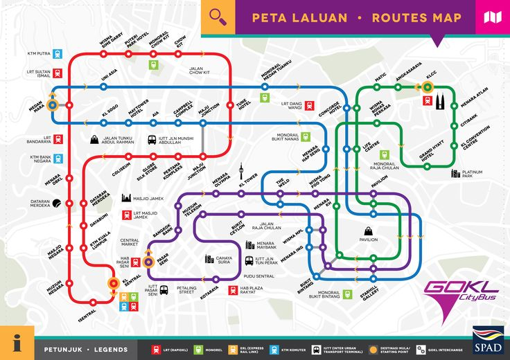 Route Map for GOKL City Bus | Official Suruhanjaya Pengangkutan Awam Darat (S.P.A.D.) Website