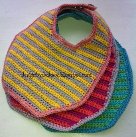 Crochet Bib - Tutorial (use google translator) ❥ 4U // hf