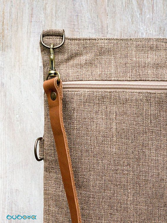 Light Brown Shoulder Bag Two-Ways Bag Convertible Bag by buboxa