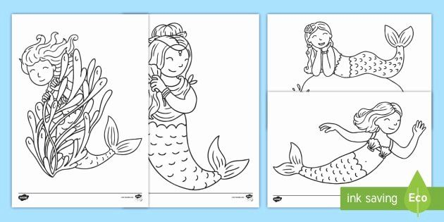 Christmas Mermaid Coloring Pages Fresh Mermaid Colouring Pages For Kids Teacher Made Mermaid Christmas Mermaid Coloring Pages Mermaid Coloring