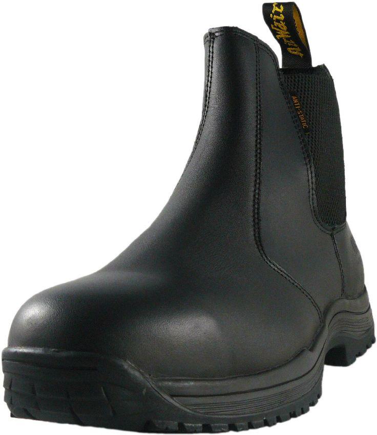 Doc Marten / Dr Martens Chelsea Steel Toe Safety Work Boots - Black Leather