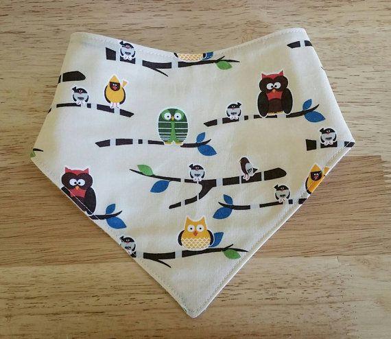 Check out this item in my Etsy shop https://www.etsy.com/ca/listing/292982239/bird-bandana-bib-owl-dribble-bib-baby