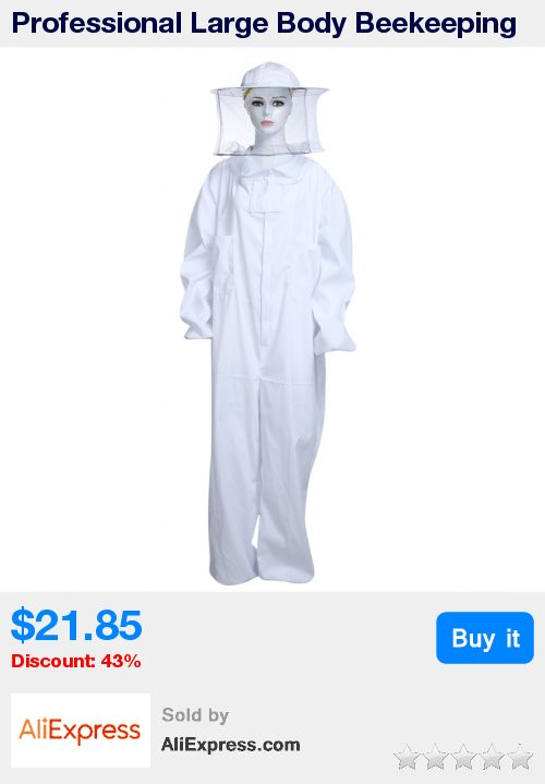 Professional Large Body Beekeeping Bee Keeping Suit with Veil Hood White beekeepers bee suit protective beekeeping suit Clothing * Pub Date: 16:01 Oct 20 2017