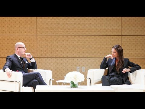 Victoria Beckham in Conversation with Parsons Fashion Dean Simon Collins - YouTube