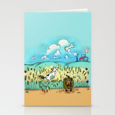 Mr Badger & Little Stitch Stationery Cards by Mr Badger & Little Stitch - $12.00