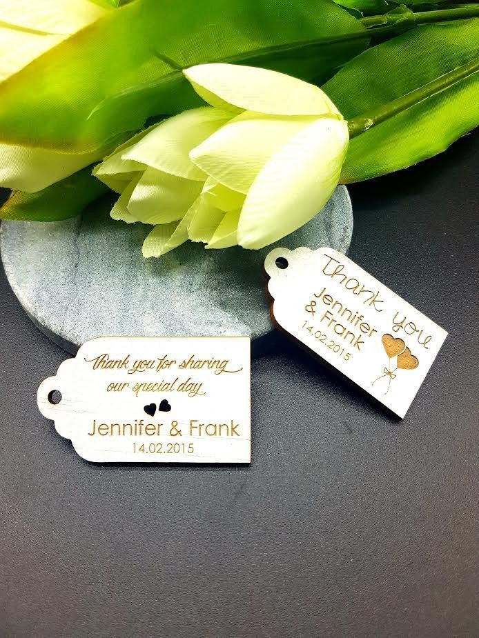 Thank you White Wash Small Timber Tags