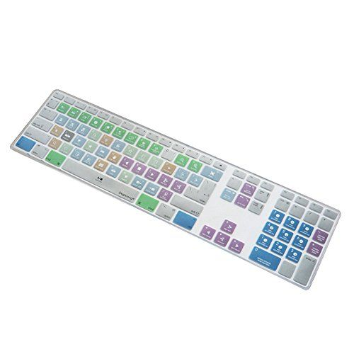"""awesome XTian """"Apple Final Cut Pro X Functional Shortcut Metal Brushed Silicone Keyboard Dust Cover Skin for Apple iMac Wireless Keyboard With Number Pad"""