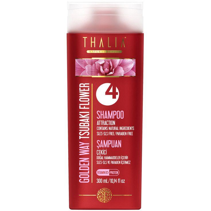 Saçlarınıza derinlemesine bakım yapar ve parlaklık kazanmasına yardımcı olur. İçeriğindeki organik TSUBAKI yağı ile saçlarınızın daima bakımlı ve sağlıklı görünmesine yardımcı olur. Amber ve meyvemsi kokusu ile tarzınıza gizemli bir asalet katar. Çekici ve temiz saçlar için SLES/SLS ve paraben içermeyen özel formülülü bu şampuanı her gün güvenle kullanabilirsiniz. #saç #thalia #doğal #parabeniçermez #provitamin #şampuan #thaliaşampuan #doğal #şampuanlar #onarıcı