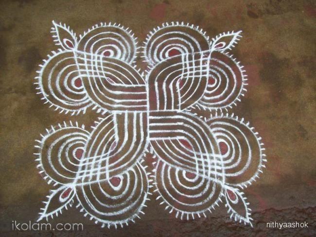 Rangoli Margazhi Kolam Regular   www.iKolam.com