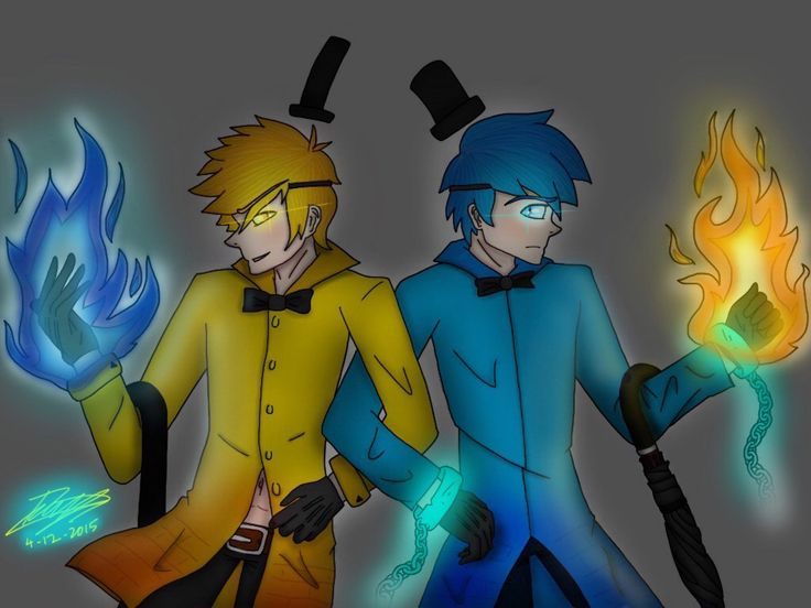 Bill Cipher and Will Cipher -Art by BeckytheAwesome-