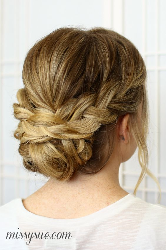 Soft Braided Updo for Wedding Hair