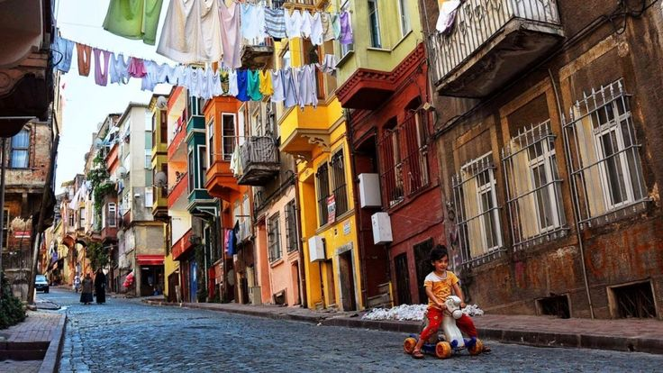 "Derived from Palation, meaning ""palace"" in the Greek language, Balat is a district on the shore of the Golden Horn in Istanbul. Balat was a Jewish district in the Ottoman period."