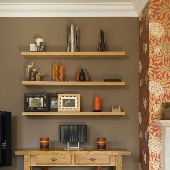 Try Contrasting A Bold Wallpaper With A Neutral Wall Paint Here A Chimney Breast Is Covered In