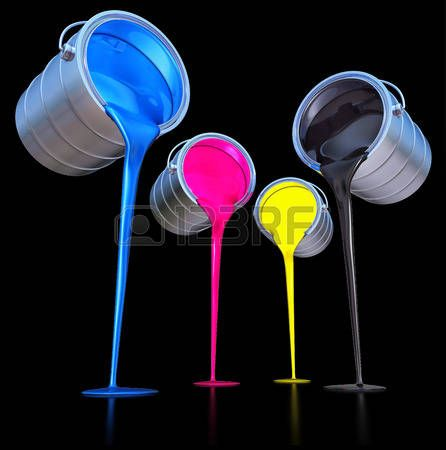 pintura chorreando: colores CMYK concepto