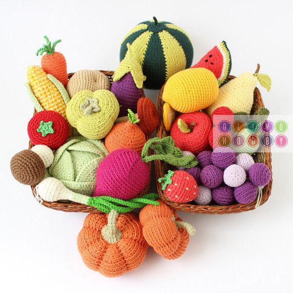 Amigurumi Fruit : crochet fruits and veggies amigurumi food Pinterest ...