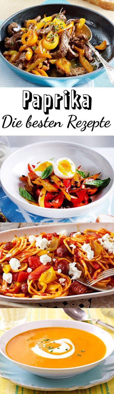 Ob rot, grün oder gelb - Paprika-Rezepte sind immer lecker. Probiere unsere herzhaften Gerichte von gefüllter Paprika über Pfannengerichte bis zu Suppen mit den bunten Schoten.